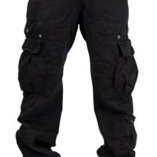 Панталони с много джобове металски