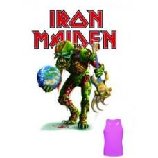 Потник Iron maiden дамски бял 02