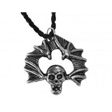 Медальон череп с прилепи 3029