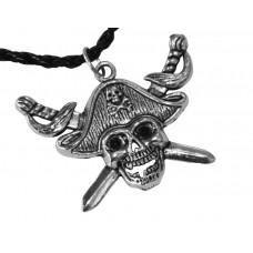 Медальон череп с две саби 3030