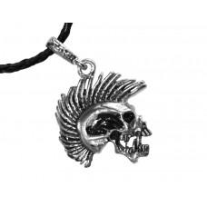 Медальон череп пънкар 3033