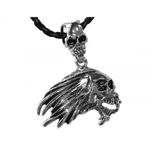 Медальон зловещ череп 3038