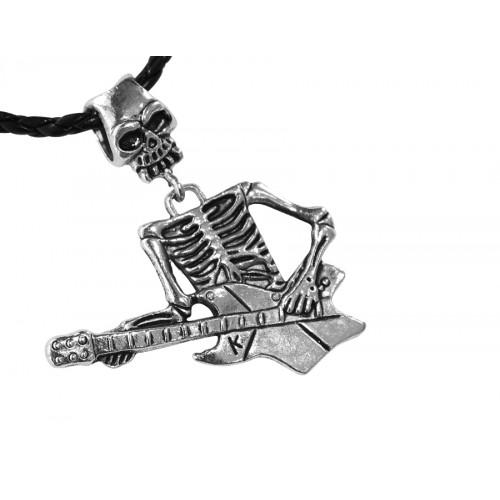 Медальон скелет с китара 3052