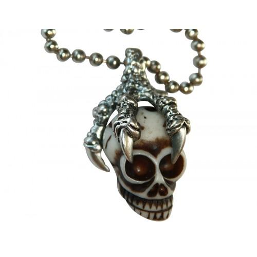 Медальон череп в орлови нокти 3061