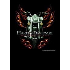 Ефектна тениска Harley davidson motorcycle flames