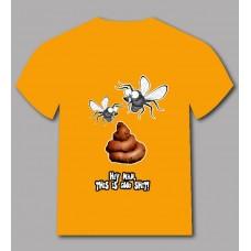 Ефектна тениска мухи на лайно