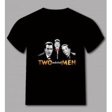 Ефектна тениска Двама мъже и половина