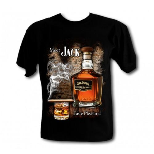 Ефектна тениска Jack Daniels smoke 977