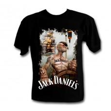 Ефектна тениска Jack Daniels Попай 978