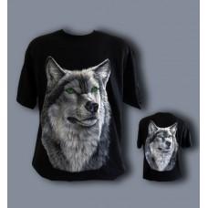 Тениска Вълк със зелени очи-582