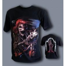 Тениска Скелет китарист 688