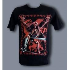 Тениска Скелет с китара 687