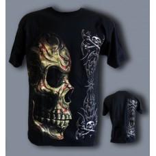 Тениска Череп с трайбъли 674