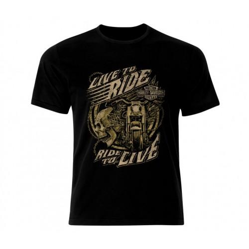 Ефектна тениска Harley злато 990